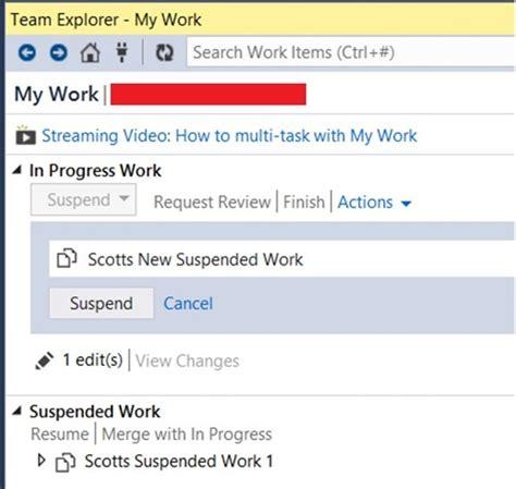 visual studio 2012 suspend and resume work