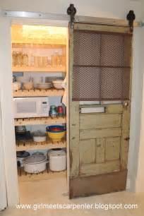 Pantry Barn Door Remodelaholic Sliding Barn Door Pantry Makeover With Wood Slat Shelves