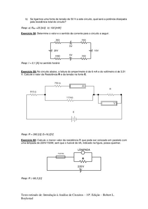 resistors b q um resistor de resistencia r ao ser submetido a uma ddp 28 images circuito s 233 rie