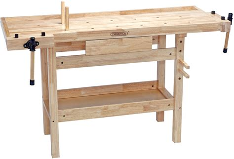 carpenters work bench draper carpenters oak wood workbench with drawer 2 vices