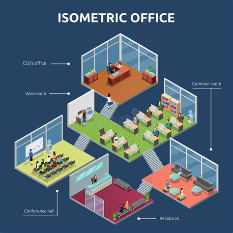 isometric floor plan isometric office 3 floor building plan stock vector