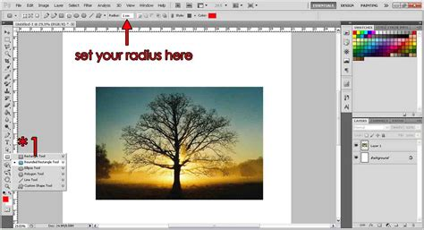 Rectangle Outline Photoshop Cs5 by Rounded Corners Photoshop Tutorial Org