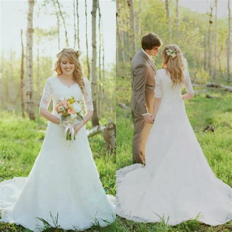 Vintage Modest Wedding Dresses by Modest Vintage Lace Wedding Dresses Www Imgkid The