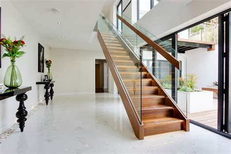 wood and glass banister 20 wood and glass contemporary staircase designs home