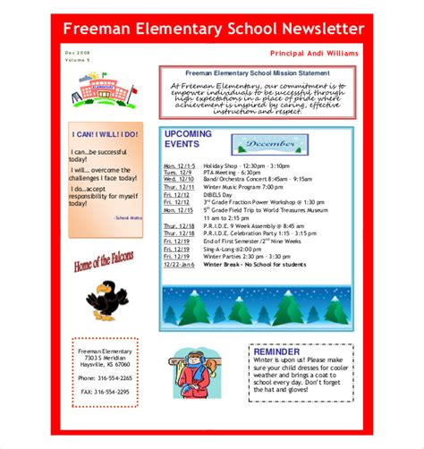 free printable school newsletter templates preschool newsletter template 9 psd pdf documents