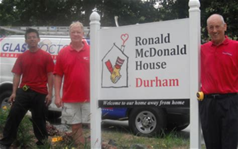 Ronald Mcdonald House Raleigh by Glass Doctor Franchisee Donates To Ronald Mcdonald House