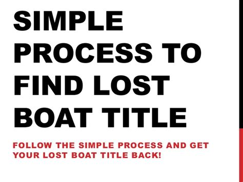 how to get a title for a boat in florida simple process to find lost boat title