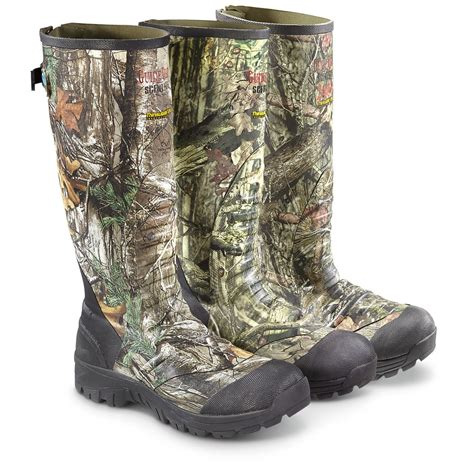 rubber boots hunting guide gear men s 17 quot insulated rubber hunting boots 2 400