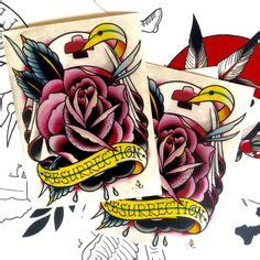rose of jericho tattoo flash 13 by brian spider designs canvas