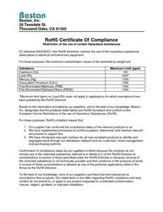 compliance statement template sle of compliance letter