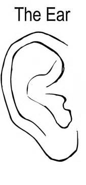 ear coloring page i hear with my ear coloring pages i hear with my ear