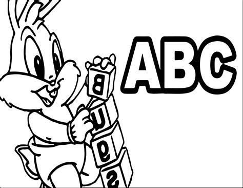 baby alphabet coloring pages baby bugs bunny abc coloring page wecoloringpage