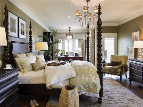 hgtv master bedrooms green master bedroom with traditional four poster bed hgtv