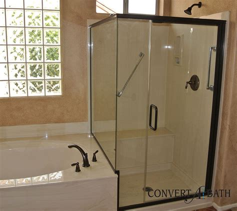 Bath Shower Doors Glass Frameless semi frameless glass convertabath 174