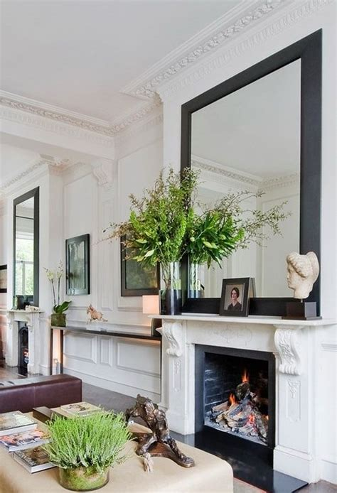 large living room mirror decoist pre war details and spring fresh black white and green