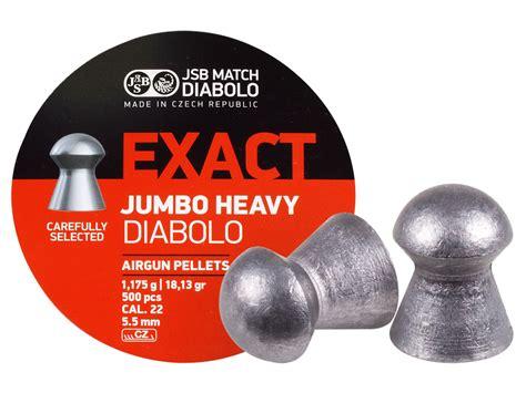 Jsb Exact Jumbo Heavy 22 jsb match diabolo exact jumbo heavy 22 cal 18 13 grains