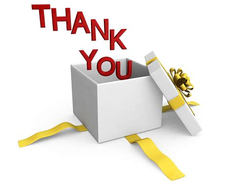 0914 Thank You Words Coming Out Of Gift Box Stock Photo Powerpoint Presentation Images Thank You Clipart For Powerpoint