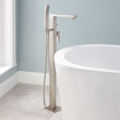 bathtub plumbing ryle freestanding tub faucet and hand shower bathroom
