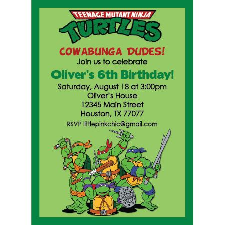 tmnt birthday card template turtle birthday quotes quotesgram