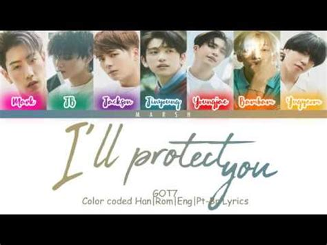 got7 save you got7 save you i ll protect you 지켜줄게 color coded