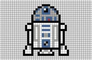 star wars r2 d2 pixel art brik