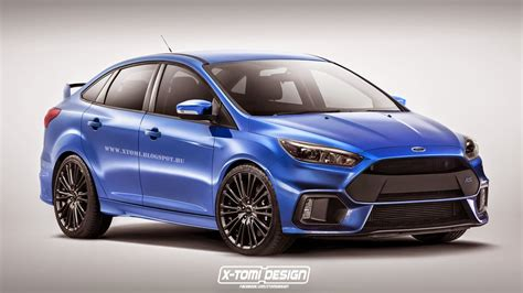 ford focus 2016 ford focus rs sedan digitally imagined autoevolution