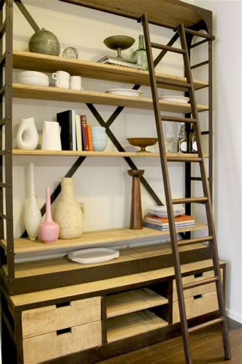 Bookcase Ladder Hardware Ladder Bookcase Restoration Hardware Style
