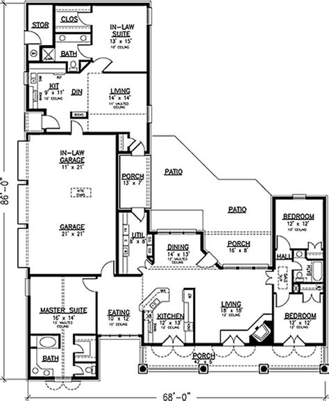 floor plans with inlaw apartment country house plan 146 2173 4 bedrm 2464 sq ft home