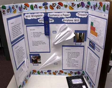 paper airplane research project 2nd grade science fair poster pictures