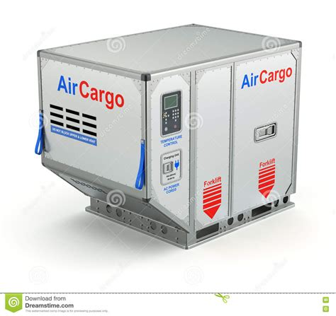 air cargo container with metal pallet stock illustration illustration of cargo pallet 76891120