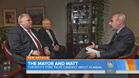 rob ford toronto mayor on matt lauers today show no mayor rob ford refuses media requests through new chief of