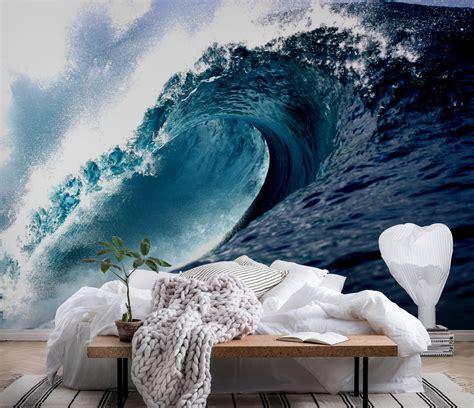 wave wallpaper for walls wall mural wave photo wallpaper surf hawaii happywall