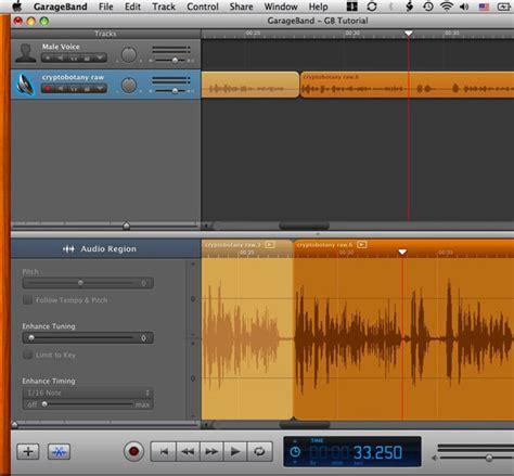 Garageband Only Recording One Side Garageband Basic Editing Berkeley Advanced Media Institute