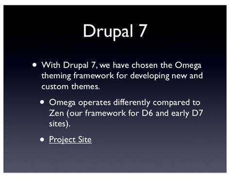 drupal theme zen vs omega drupal 7 theming with omega