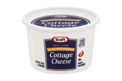 1 cup cottage cheese calories kraft small curd 4 milkfat min cottage cheese 16 oz tub