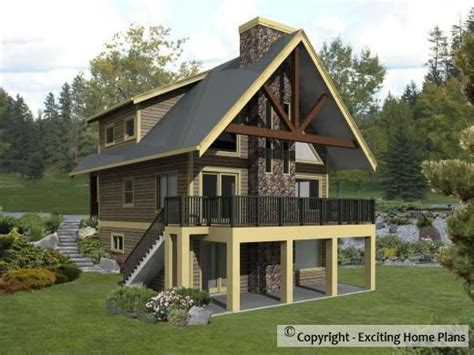 houses on stilts plans sierra cabin plan cottage plan stilt houses pinterest