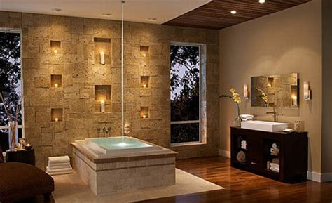 wall decorating ideas for bathrooms bathroom decorating stunning stone wall plushemisphere