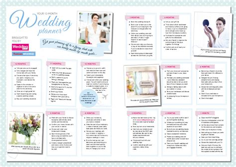 printable 12 month wedding planner 8 best images of 12 month wedding planner printable 12
