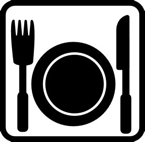 pictogramme cuisine dinner clip at clker com vector clip