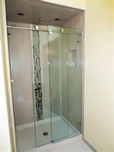 frameless shower door enclosures frameless sliding shower door gallery custom shower