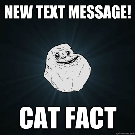 Add Text Meme - new text message cat fact forever alone quickmeme