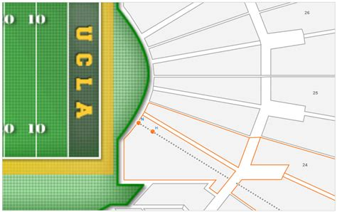 bowl seating chart with rows ucla football bowl stadium seating chart