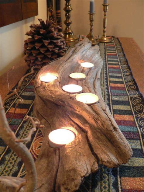 Exceptionnel table de salle a manger originale #2: creation-en-bois-flotte-bougies-table-detail-interieur.jpg