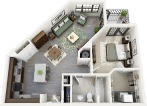Small Home Layout Ideas 50 One 1 Bedroom Apartment House Plans Studio