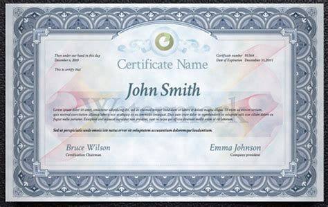 photoshop certificate template images