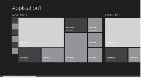 xaml gridview layout c how to insert an image list in the grouped items page