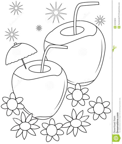 coloring coconut coconut clipart coloring page pencil and in color