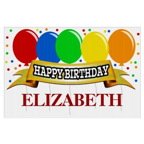 red name personalized happy birthday signs zazzle