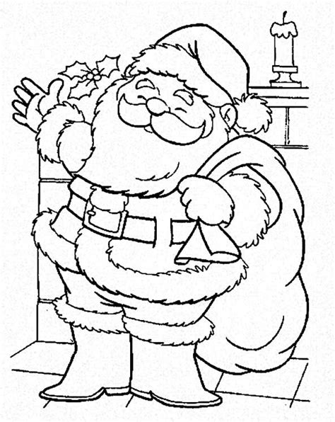 santa claus is coming to town on christmas coloring page