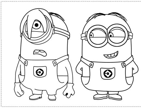 coloring pages with minions despicable me minion coloring pages coloring home